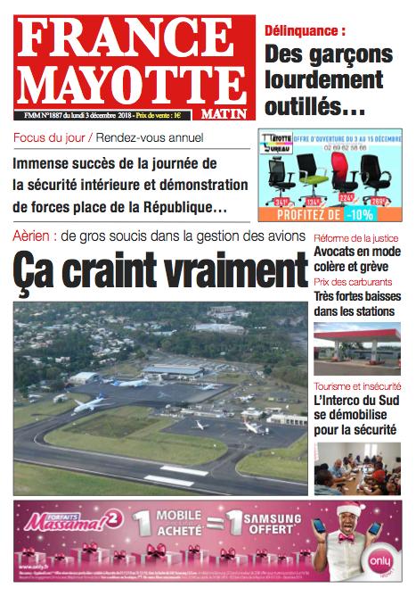 France Mayotte Lundi 3 décembre 2018