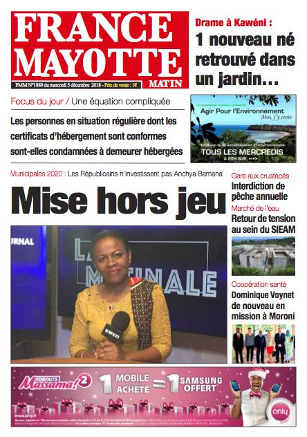 France Mayotte Mercredi 5 décembre 2018