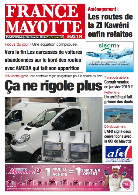 France Mayotte Jeudi 6 décembre 2018