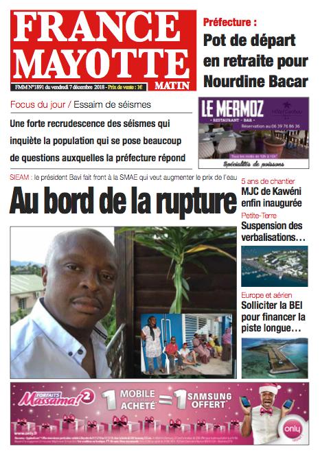 France Mayotte Vendredi 7 décembre 2018