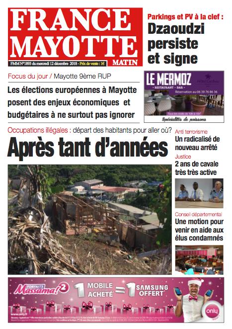 France Mayotte Mercredi 12 décembre 2018