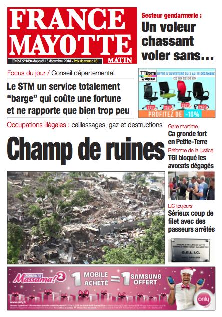 France Mayotte Jeudi 13 décembre 2018