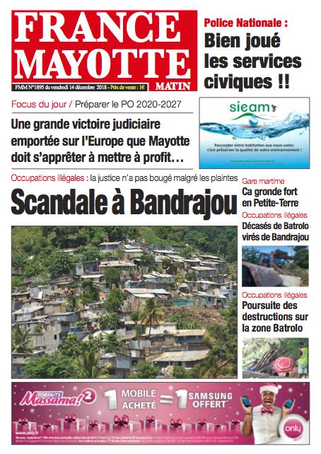 France Mayotte Vendredi 14 décembre 2018