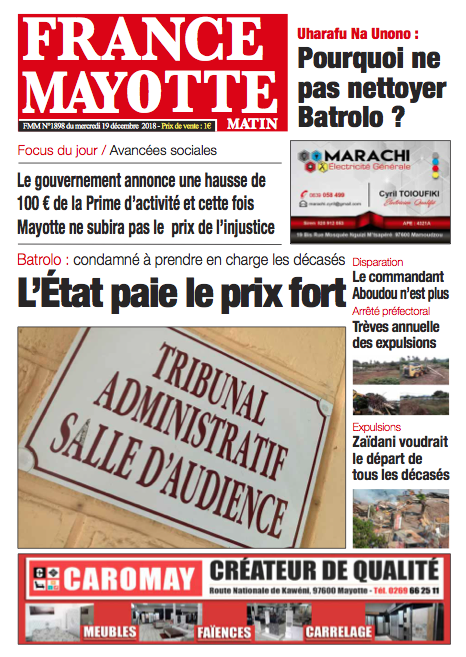 France Mayotte Mercredi 19 décembre 2018