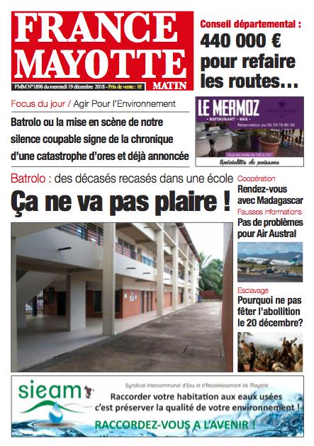 France Mayotte Jeudi 20 décembre 2018