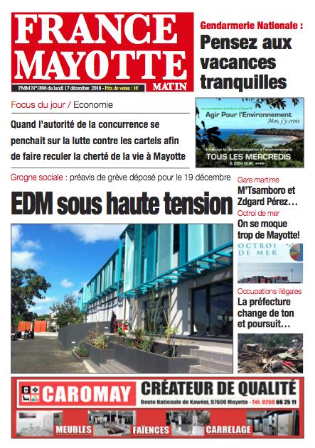 France Mayotte Lundi 17 décembre 2018
