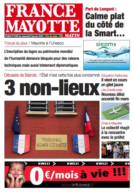 France Mayotte Mercredi 9 janvier 2019