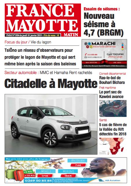 France Mayotte Jeudi 10 janvier 2019