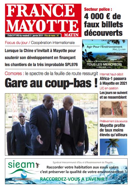 France Mayotte Vendredi 11 janvier 2019