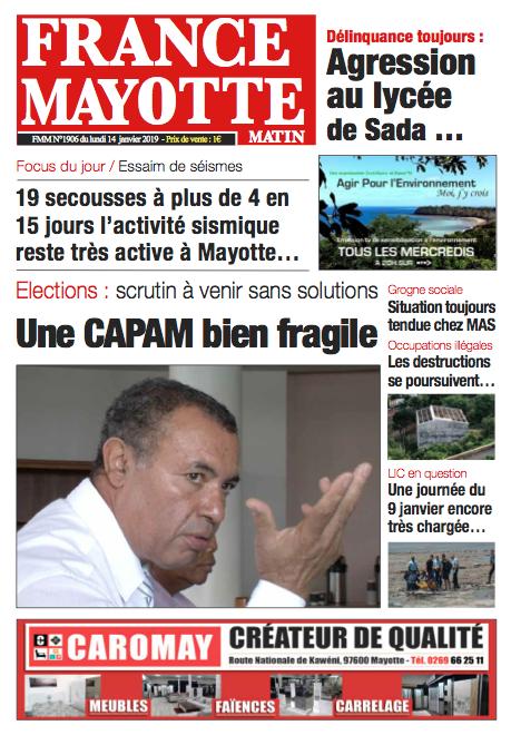 France Mayotte Lundi 14 janvier 2019