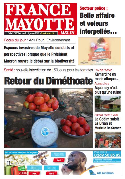 France Mayotte Mardi 15 janvier 2019