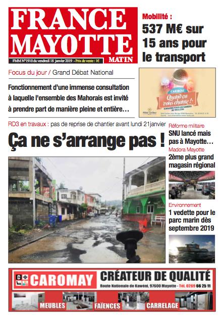 France Mayotte Vendredi 18 janvier 2019