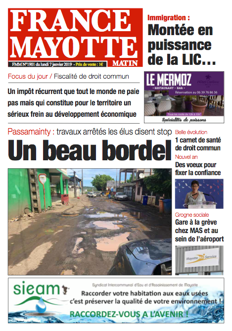 France Mayotte Lundi 7 janvier 2019