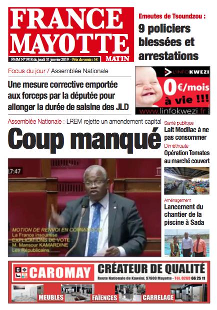 France Mayotte Jeudi 31 janvier 2019