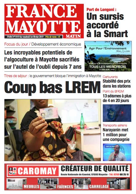 France Mayotte Vendredi 1er février 2019