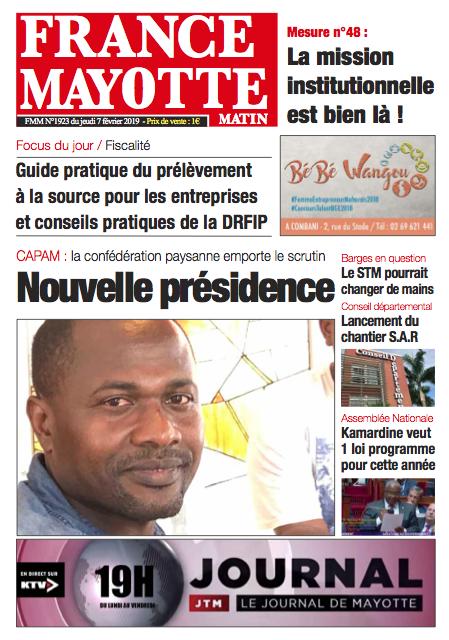France Mayotte Jeudi 7 février 2019
