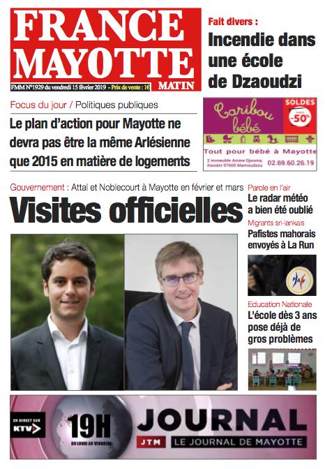France Mayotte Vendredi 15 février 2019