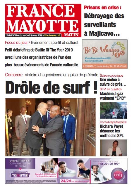 France Mayotte Vendredi 8 mars 2019