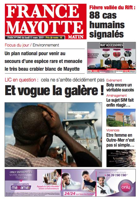 France Mayotte Lundi 11 mars 2019