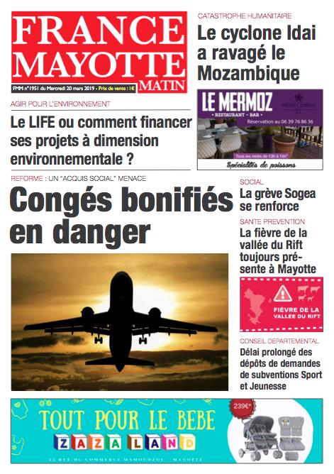 France Mayotte Mercredi 20 mars 2019