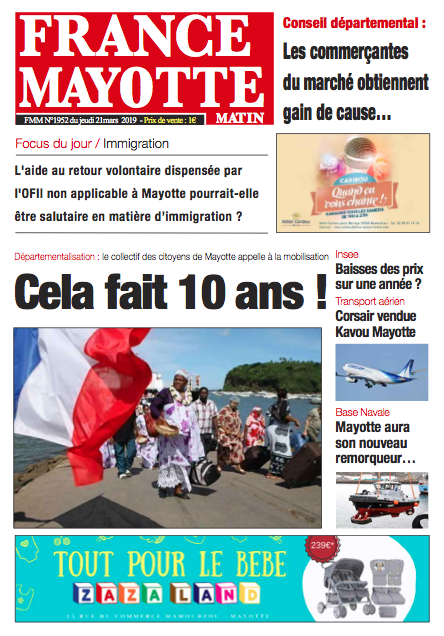 France Mayotte Jeudi 21 mars 2018