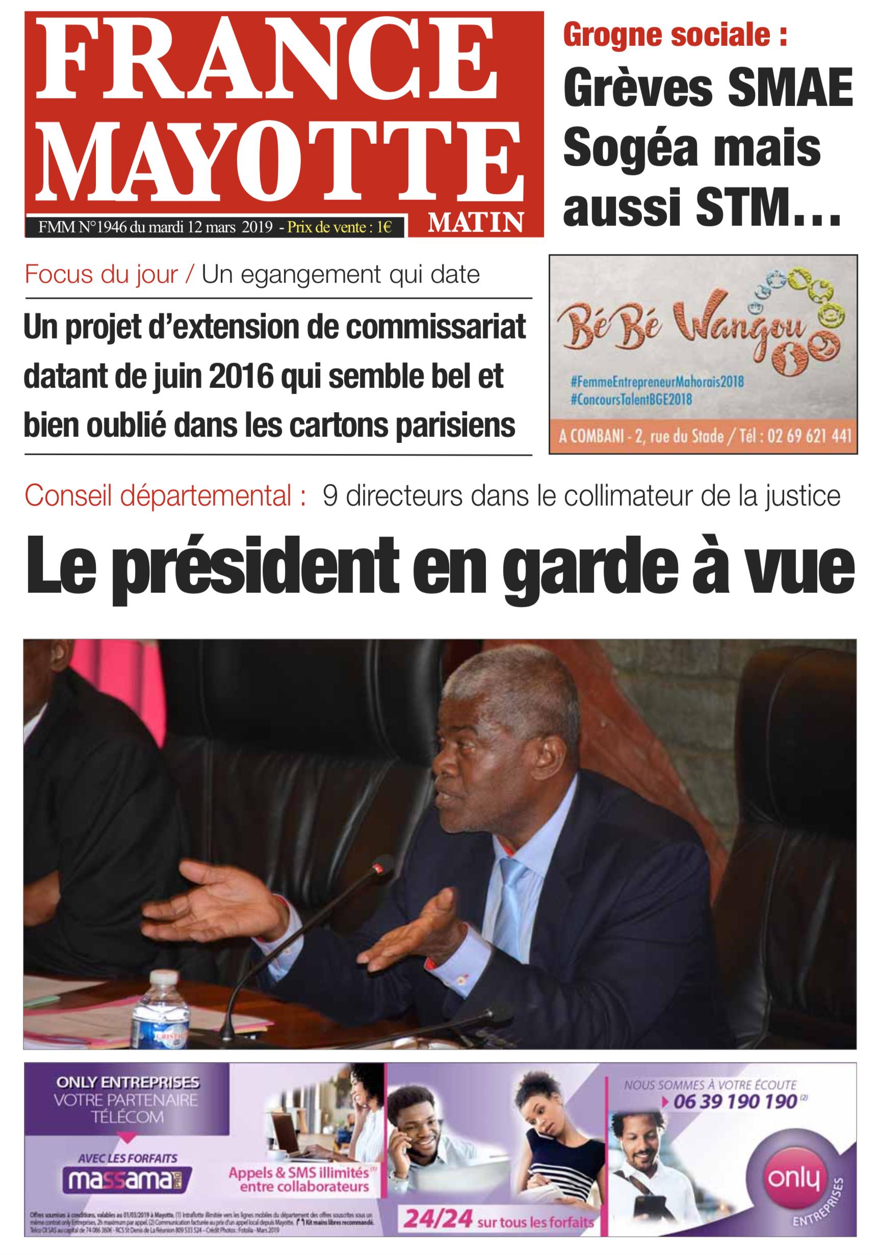 France Mayotte Mardi 12 mars 2019