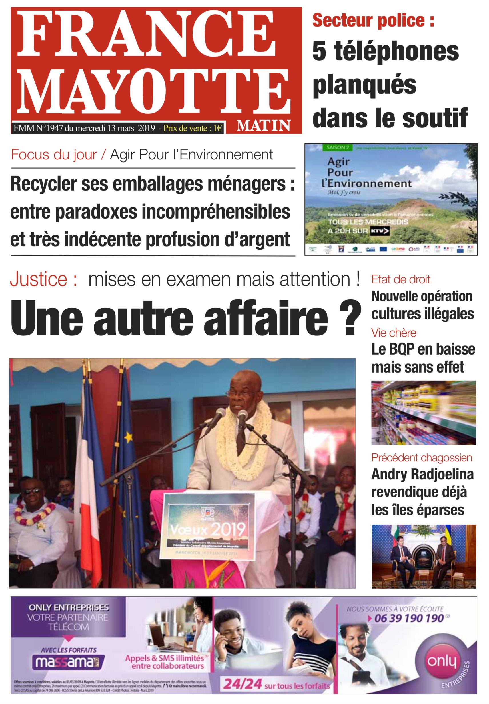 France Mayotte Mercredi 13 mars 2019