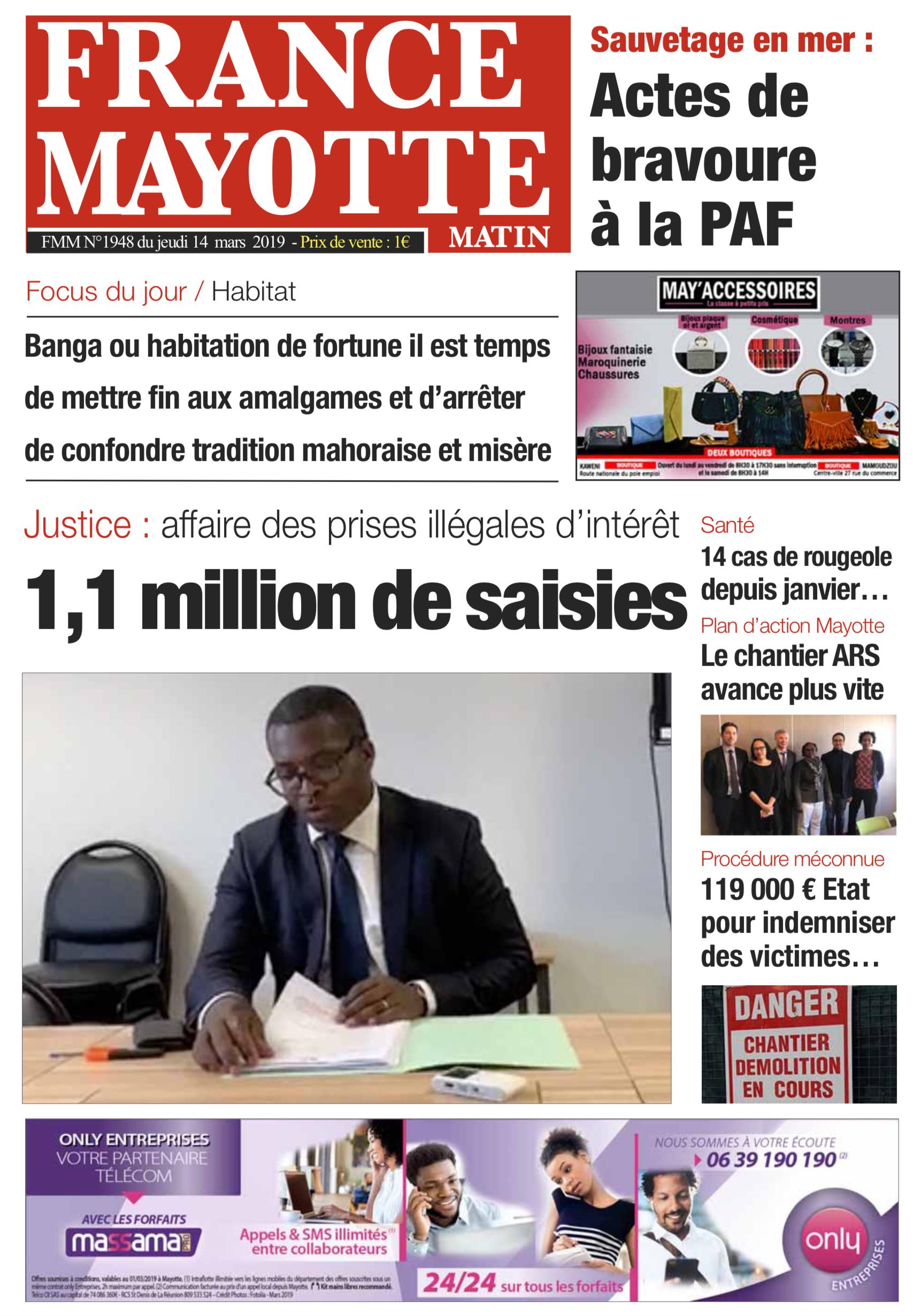 France Mayotte Jeudi 14 mars 2019