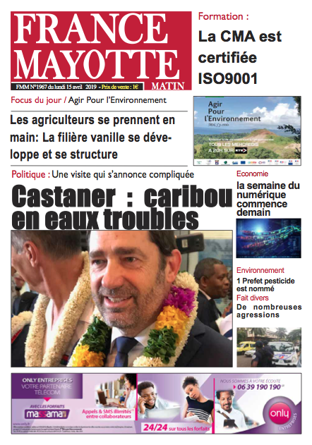 France Mayotte Lundi 15 avril 2019