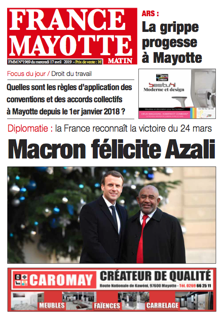 France Mayotte Mercredi 17 avril 2019