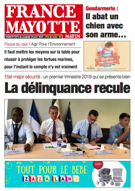 France Mayotte Vendredi 19 avril 2019
