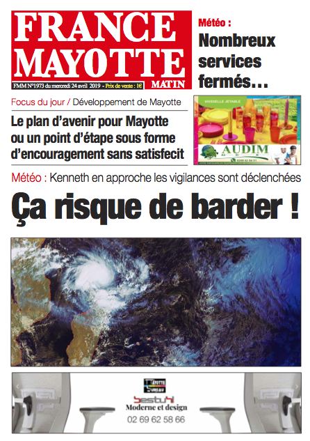 France Mayotte Mercredi 24 avril 2019