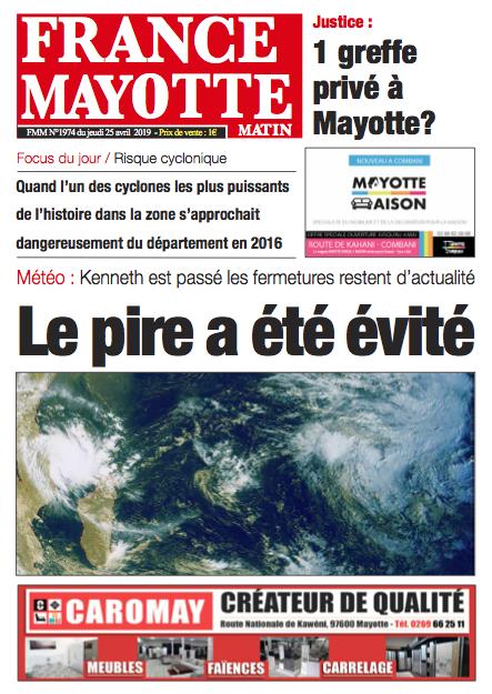 France Mayotte Jeudi 25 avril 2019