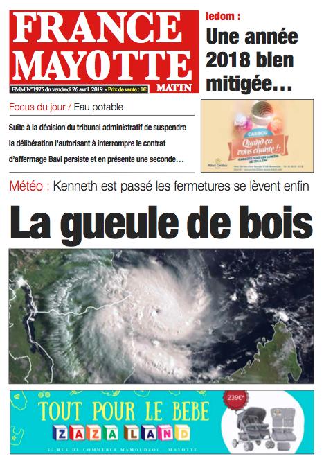 France Mayotte Vendredi 26 avril 2019