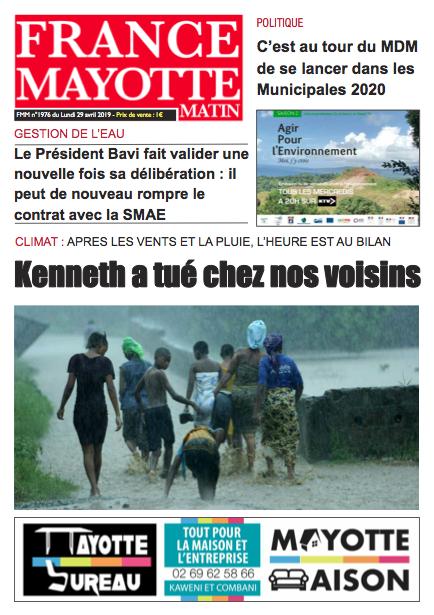 France Mayotte Lundi 29 avril 2019
