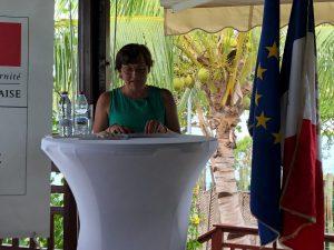 La Ministre des Outre Mer s'exprime après sa visite au RSMA