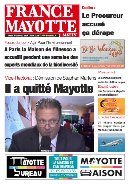France Mayotte Lundi 13 mai 2019