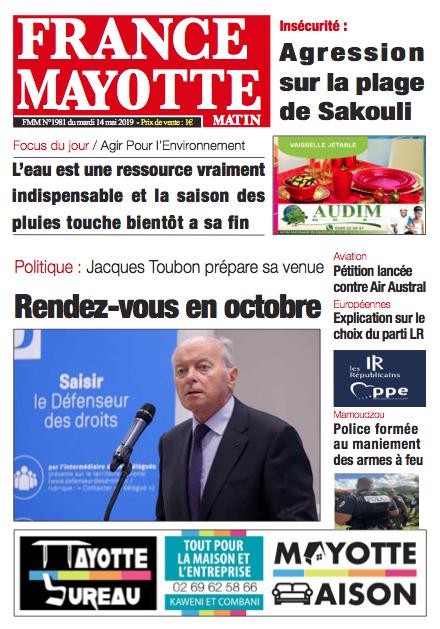 France Mayotte Mardi 14 mai 2019