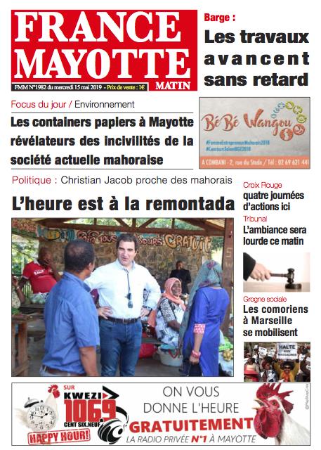France Mayotte Mercredi 15 mai 2019