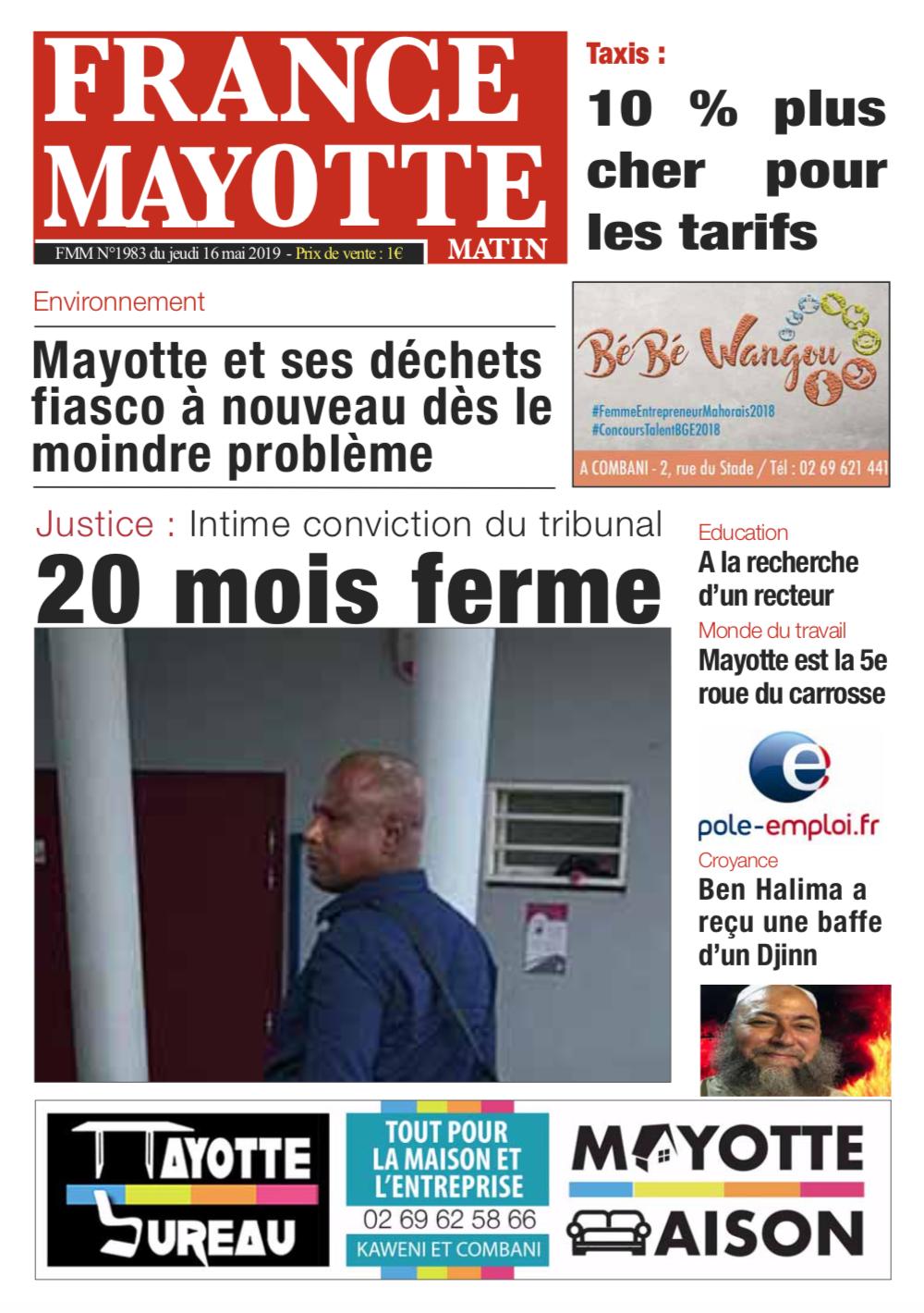France Mayotte Jeudi 16 mai 2019