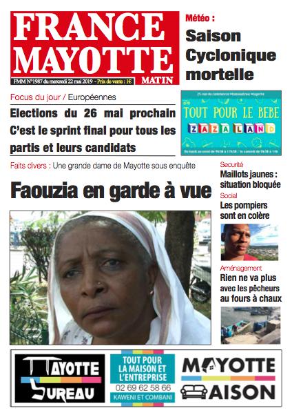 France Mayotte Mercredi 22 mai 2019