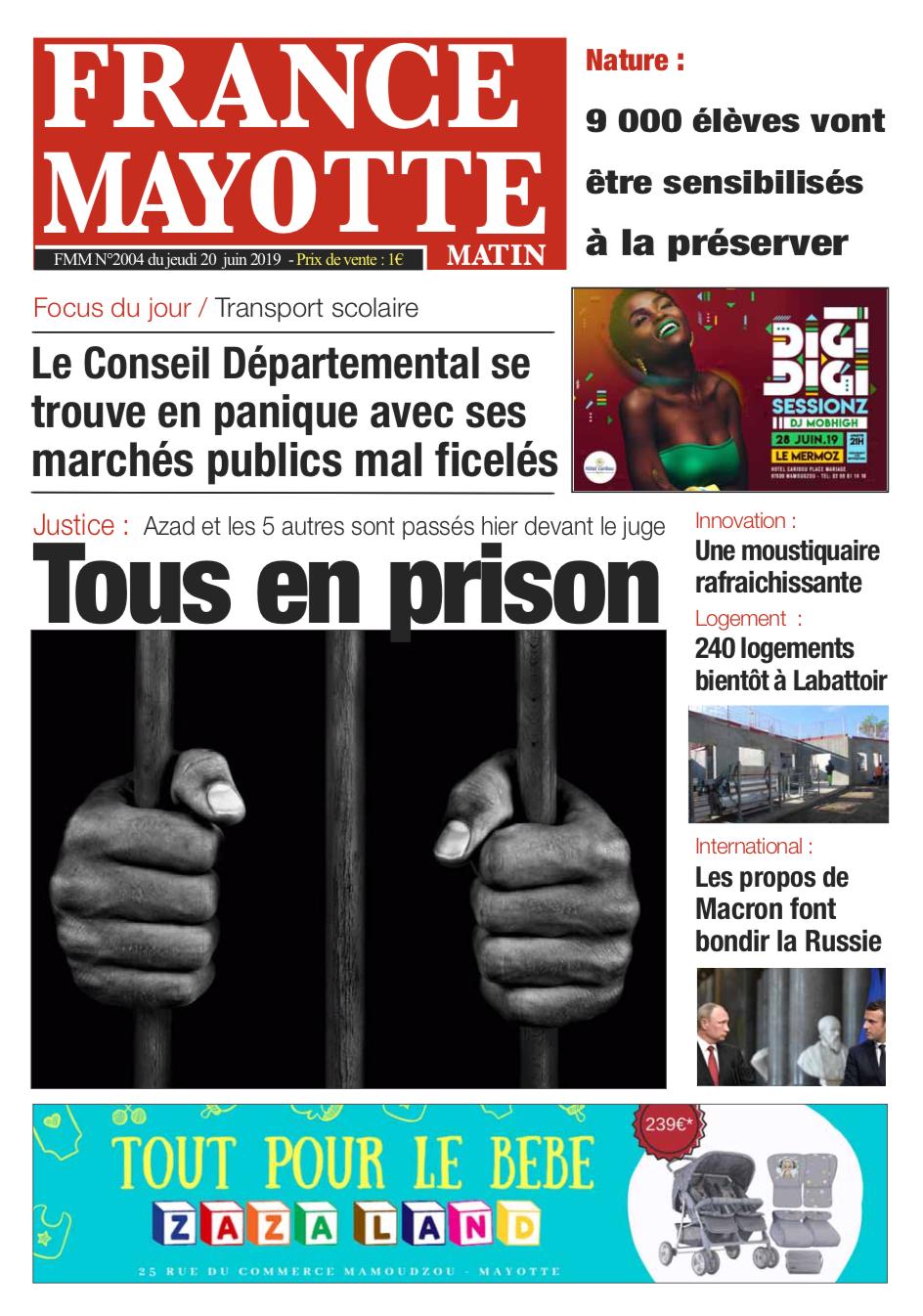 France Mayotte Jeudi 20 juin 2019