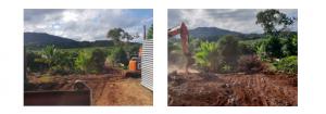 Démolition de zone d'habitat informel dans le cadre de la loi ELAN à Iloni