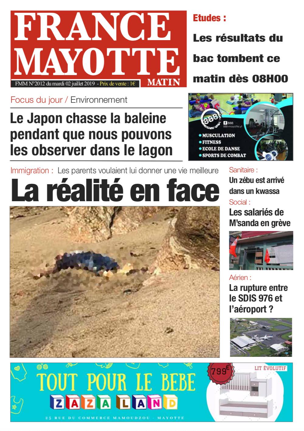France Mayotte Mardi 2 juillet 2019