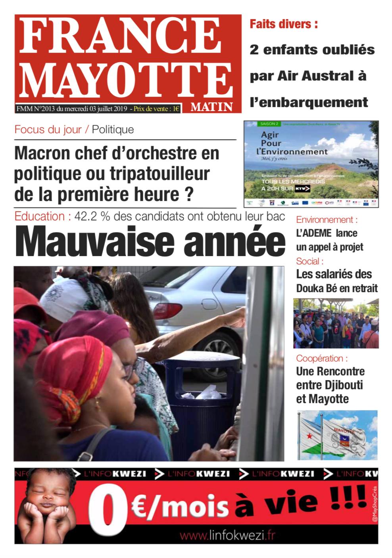 France Mayotte Mercredi 3 juillet 2019