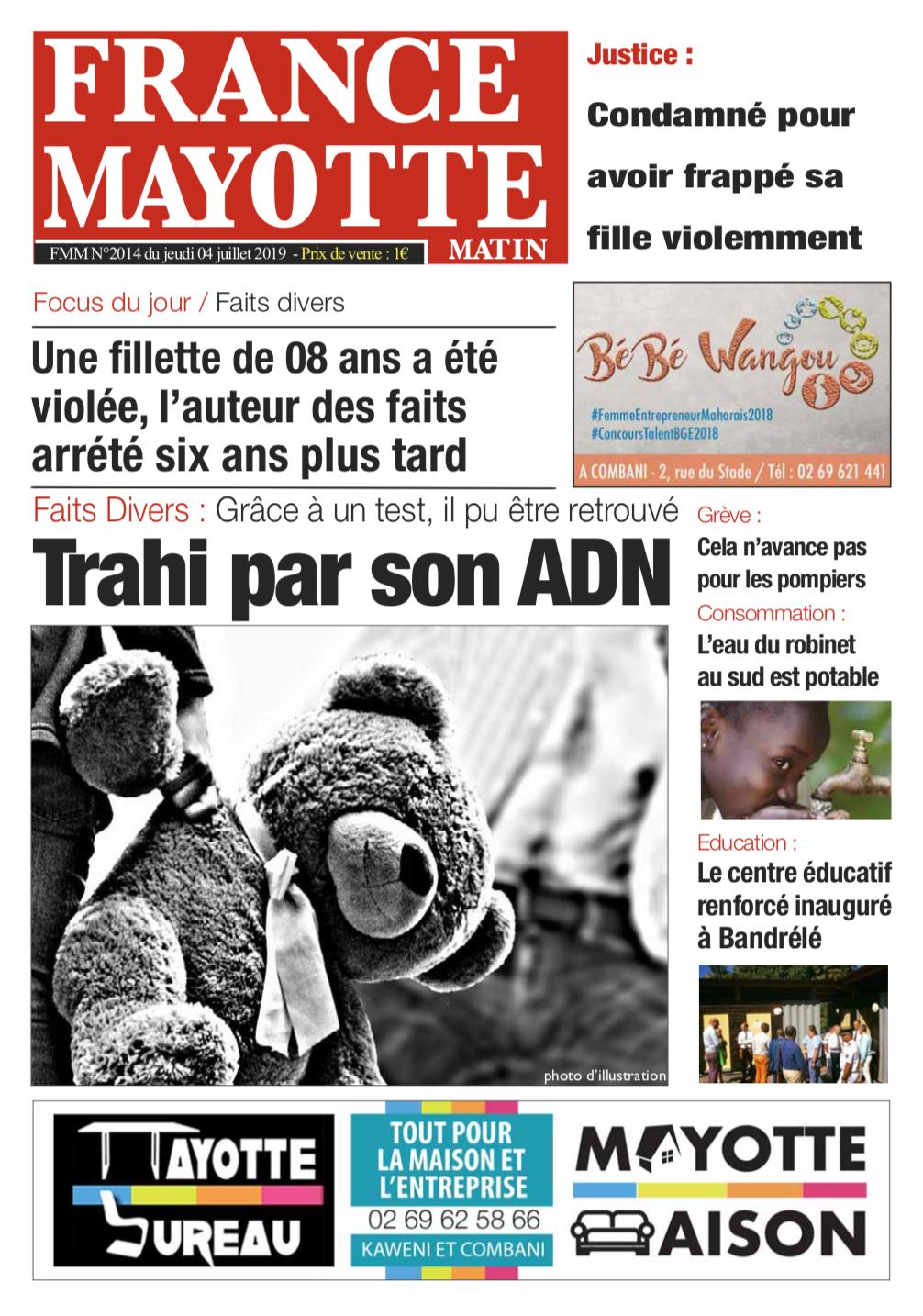France Mayotte Jeudi 4 juillet 2019