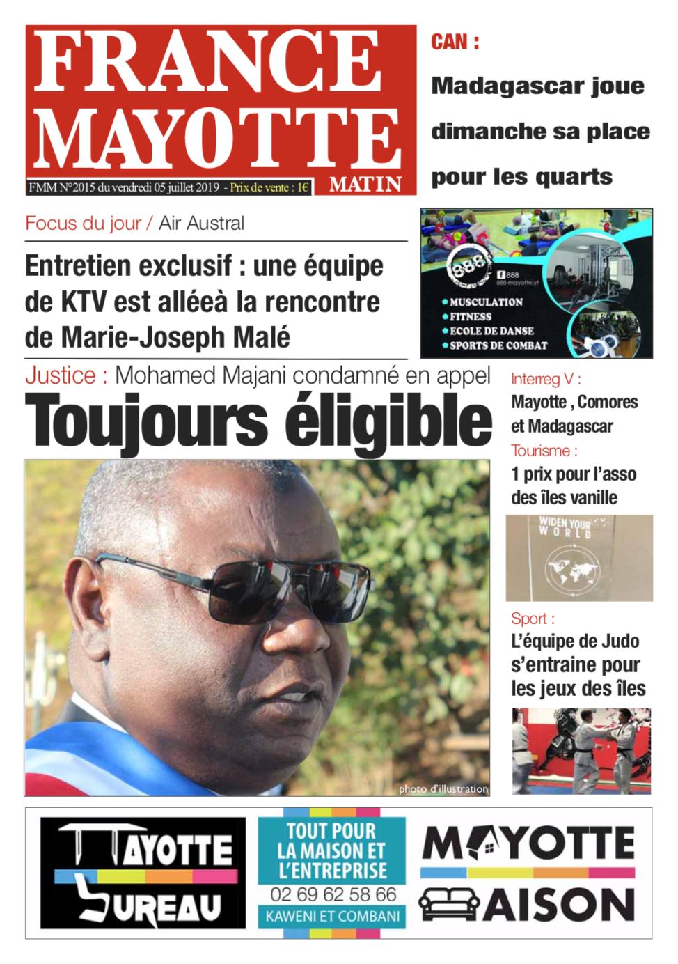 France Mayotte Vendredi 5 juillet 2019