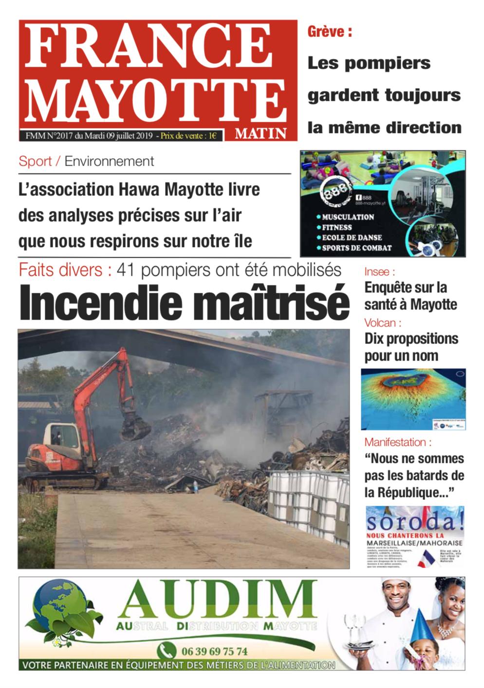 France Mayotte Mardi 9 juillet 2019
