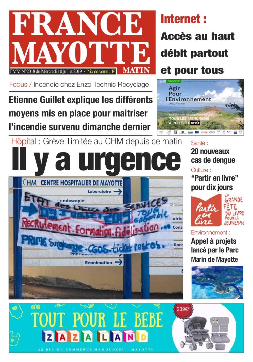 France Mayotte Mercredi 10 juillet 2019