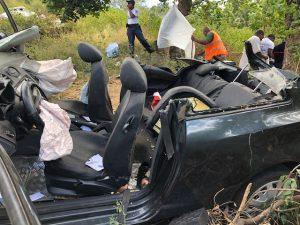 L'accident de jeudi a coûté la vie à deux personnes. (Crédit photo : Facebook gendarmerie de Mayotte)
